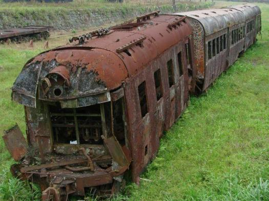 "A train car left to rot in a train yard. What causes it to disintegrate? Can we use the same principle to ""disintegrate"" the heavy metals causing cancer in our body?"