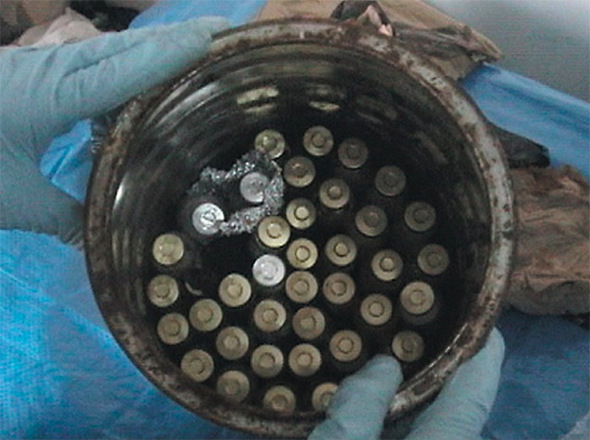 CIA: A total of 97 vials-including those with labels consistent with the al Hakam cover stories of single-cell protein and bio-pesticides, as well as strains that could be used to produce BW agents were recovered from a scientist's residence in Iraq in 2003 (Photo Credit: CIA) Information from the US federal contracts registry shows that the Pentagon performs tests using the bacteria stolen from Saddam Hussein's bio-weapons factory in Iraq.